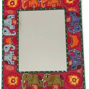 Mithla Arts Handpainted Mirror (38cm x 30cm).